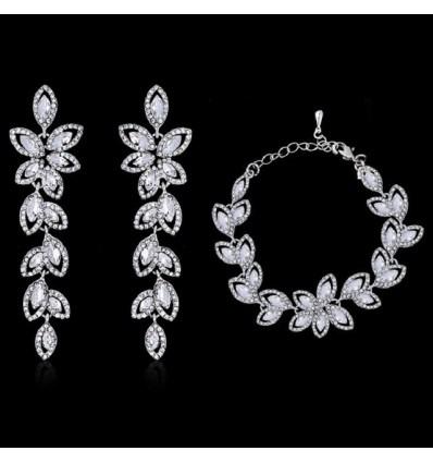 Свадебный набор Кристальные листья