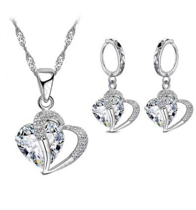 Набор из серебра Каменное сердце