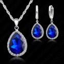 Набор из стерлингового серебра Синяя капелька