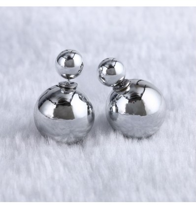 "Пусеты ""Dior silver"""