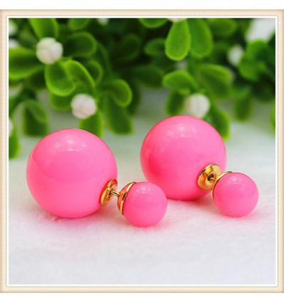"Пусеты ""pink pastel глянец"""